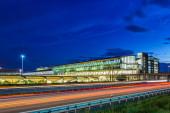 Lipcse, Németország - 2020. augusztus 18.A lipcsei Halle LEJ repülőtér terminálja Németországban.