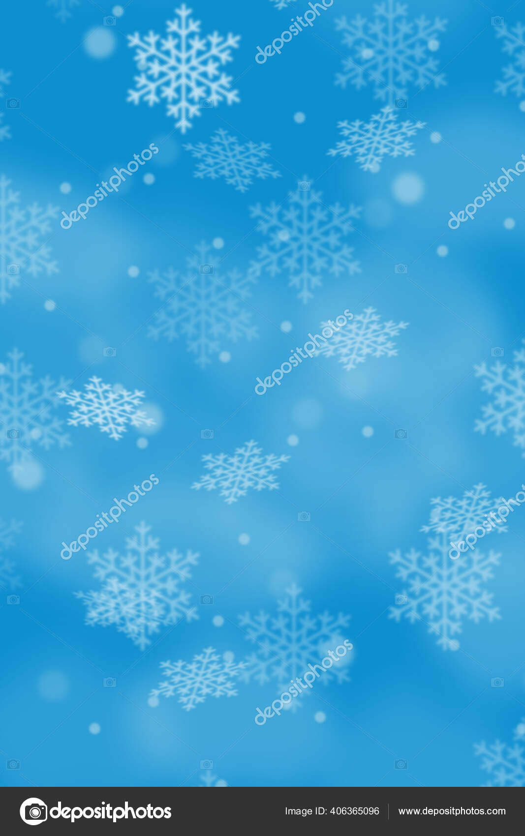 Blue Portrait Christmas Background