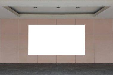 """Картина, постер, плакат, фотообои """"Большой пустой рекламный щит на улице стене, баннеры с комнату, чтобы добавить свой собственный текст"""", артикул 224192214"""