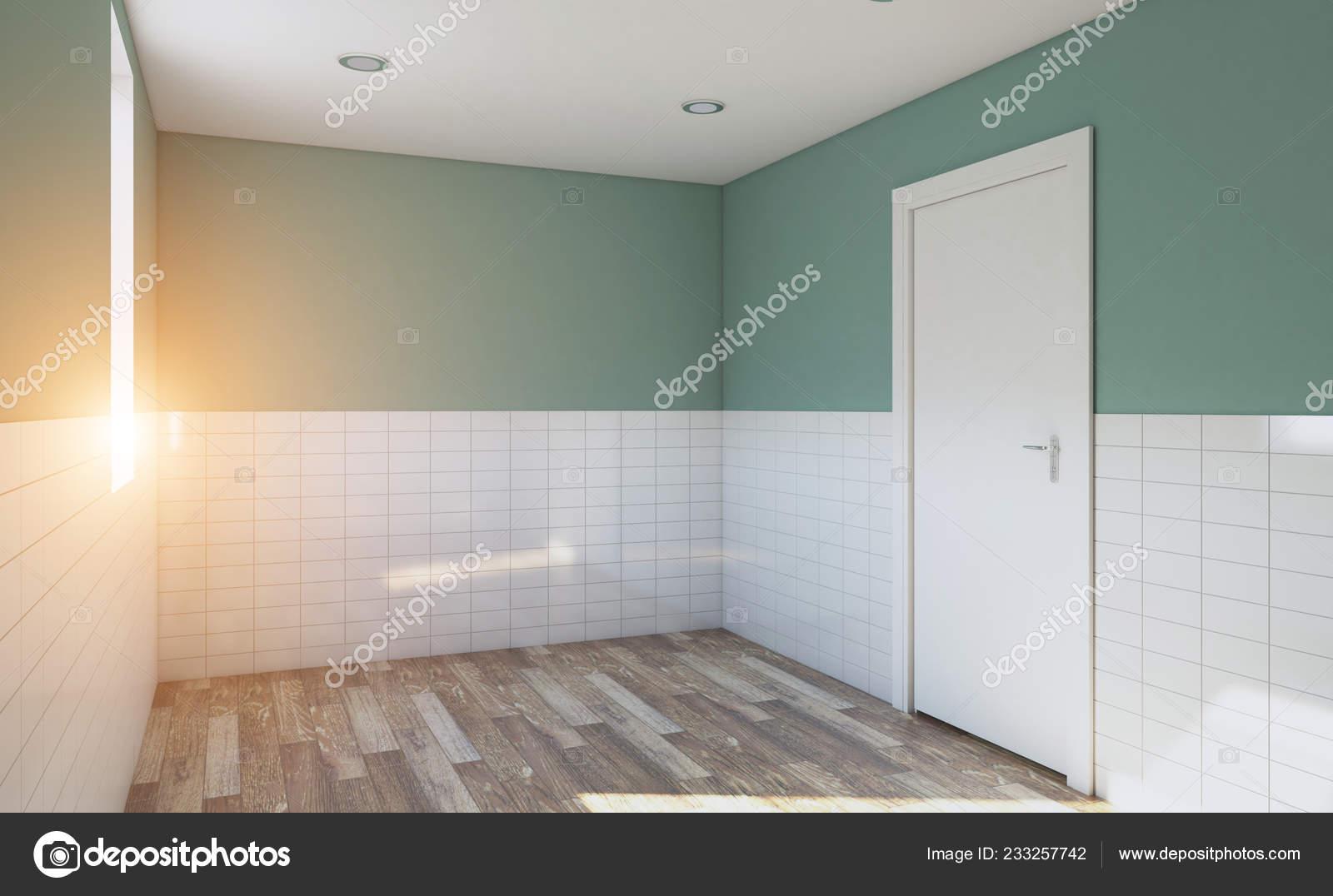 Modernes Badezimmer Mit Großem Fenster Rendering Licht ...
