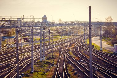 Russian Railways in spring rails