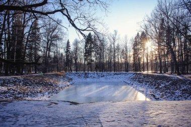 Winter landscape in clear weather.