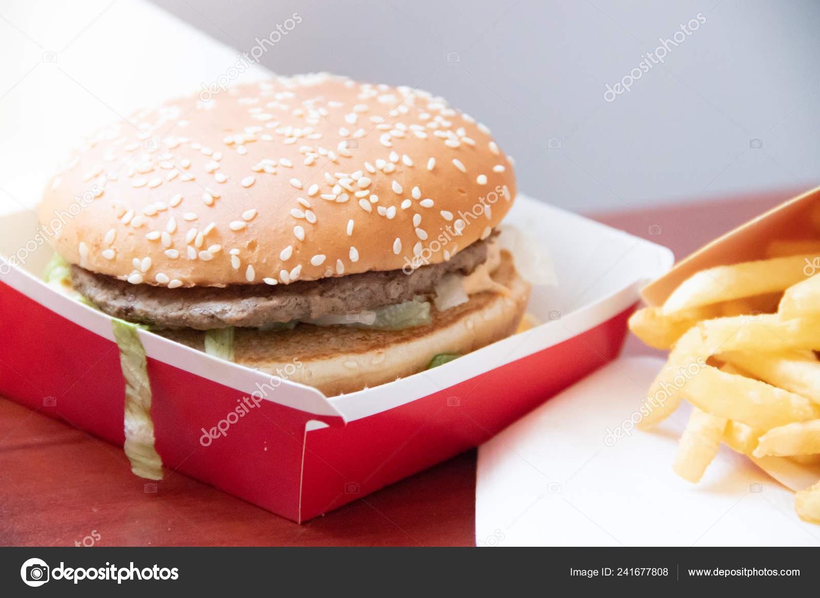 Big Mac French Fries Mcdonalds Russia Unhealthy Food