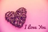Fotografia Cartolina... ti amo. Sentimenti degli amanti. Banner con testo ti amo. Amore, relazioni