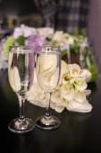 Blumenstrauß Hochzeitsgläser
