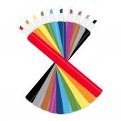 Kolekce značek, různých barev, koncepční vektor