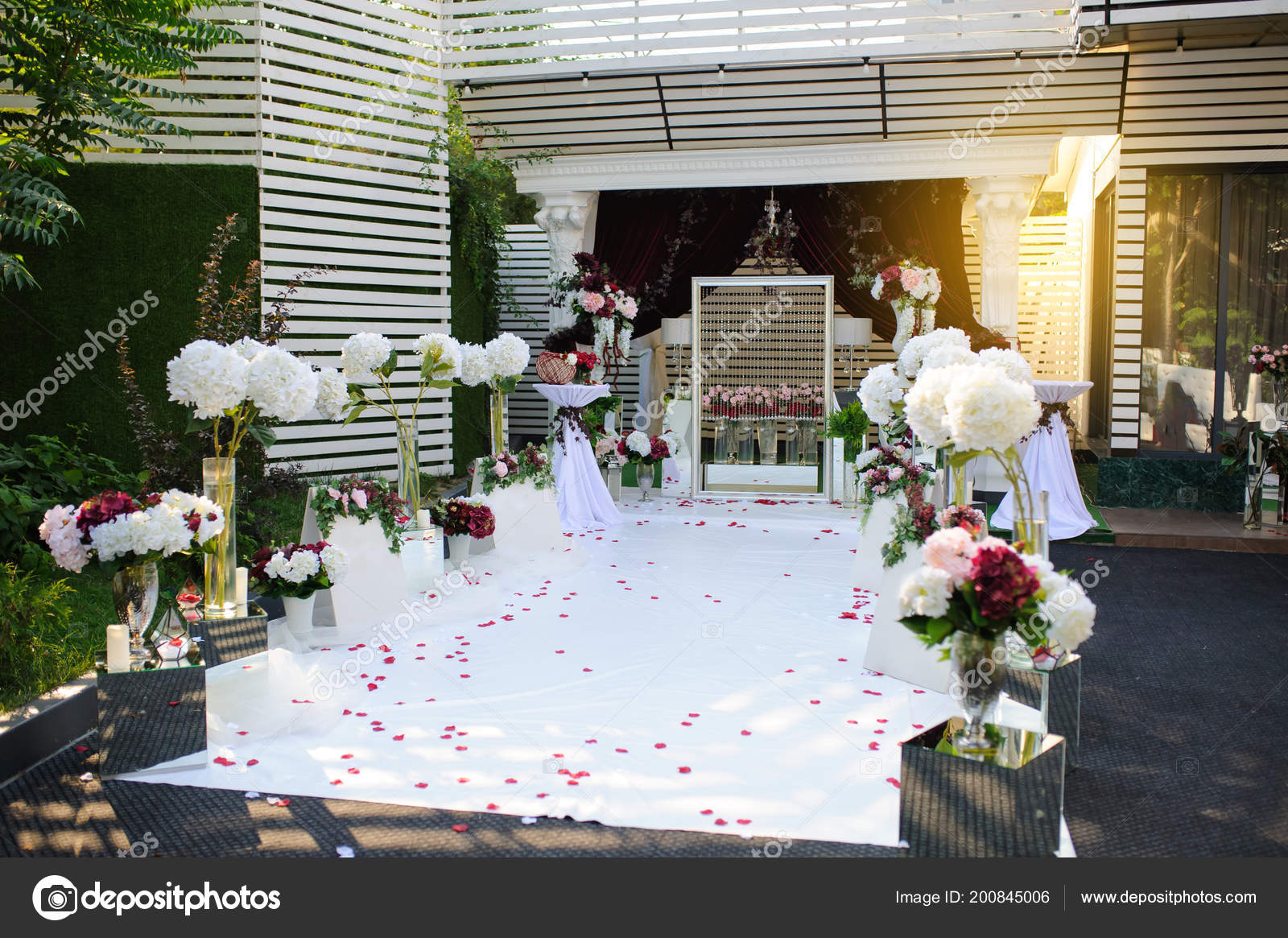Wand Fur Foto Sitzung Dekoration Freien Hochzeit Rot Blumen