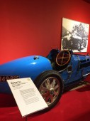 Mulhouse, France - 07/2016: Bugatti car exposed in Mulhouse museum, biplace course type 35B