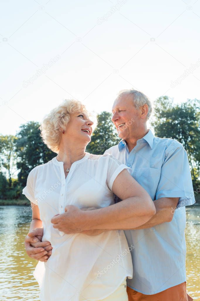 Romantic senior couple enjoying a healthy and active lifestyle