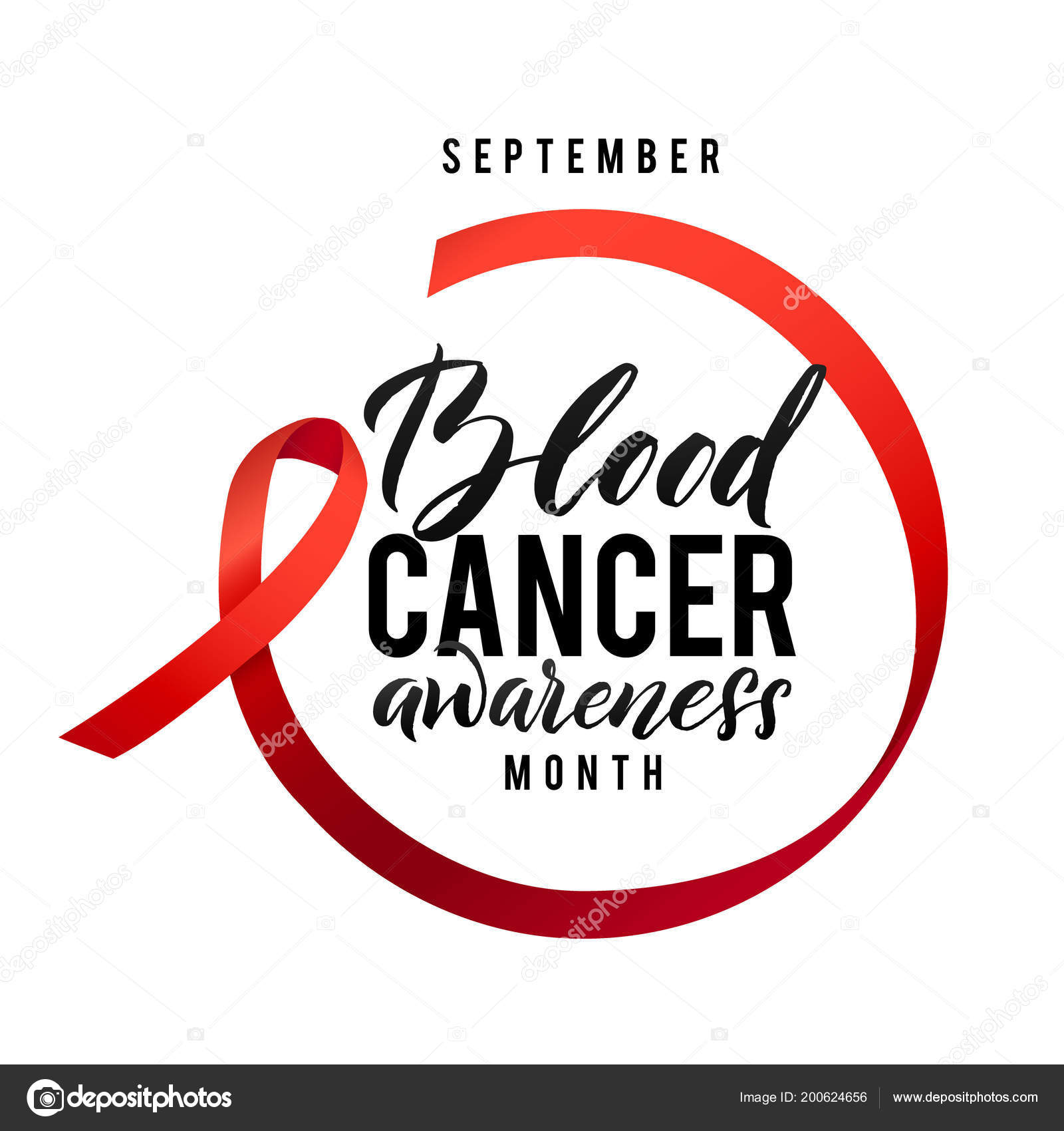 Cancer Hope Blood Cancer Awareness Label Vector Tamplate With Red