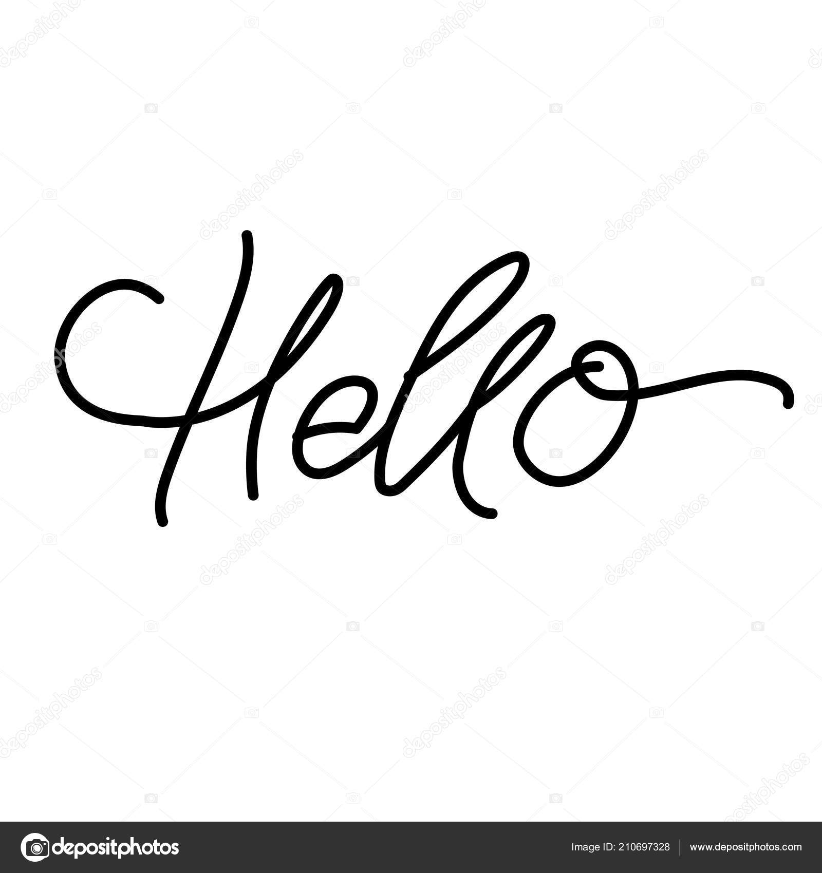 Word Hello For Greetings Text