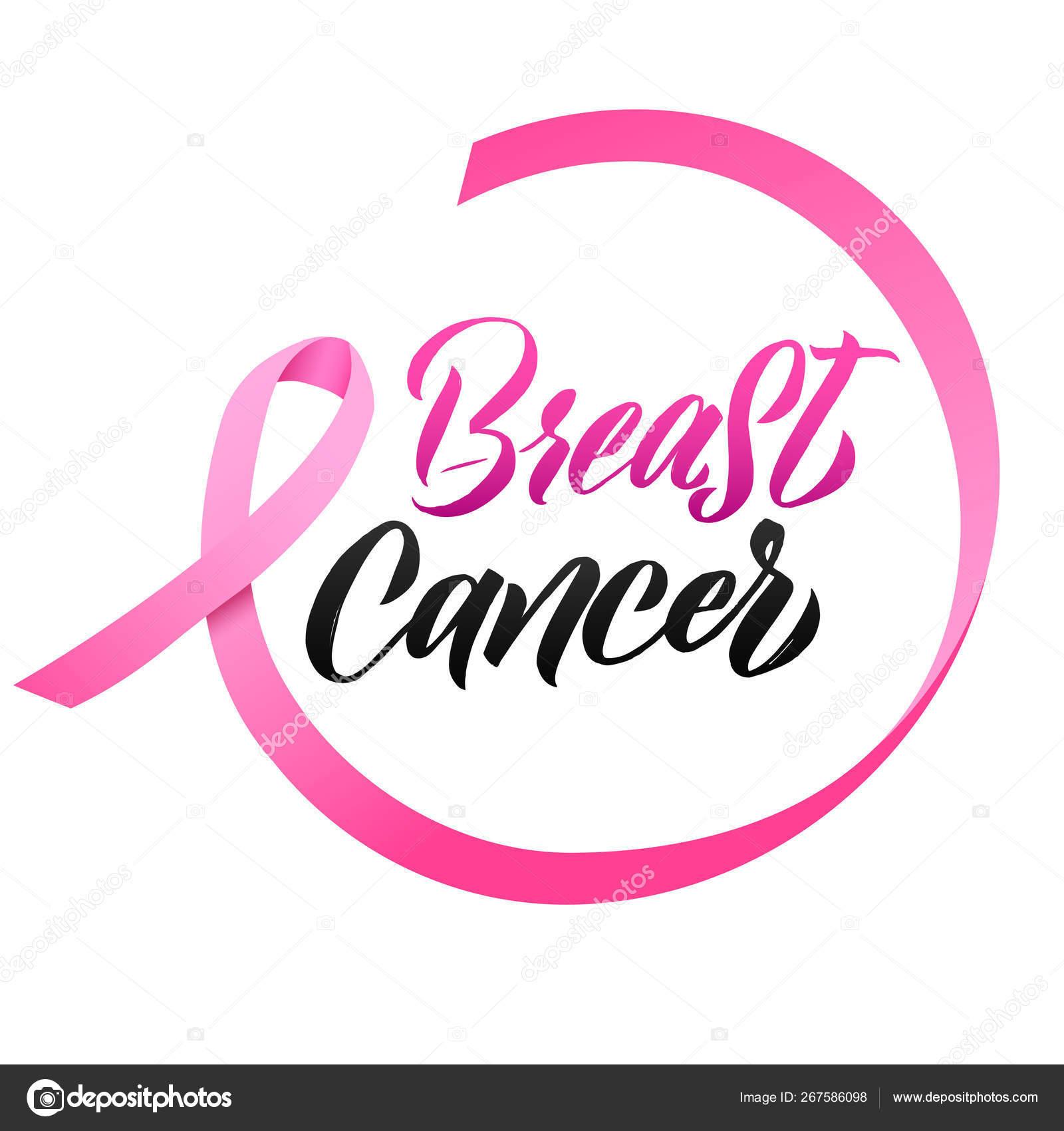 Pink Ribbon Breast Cancer Awareness Vector Illustration Stock Vector C Shumo4ka 267586098