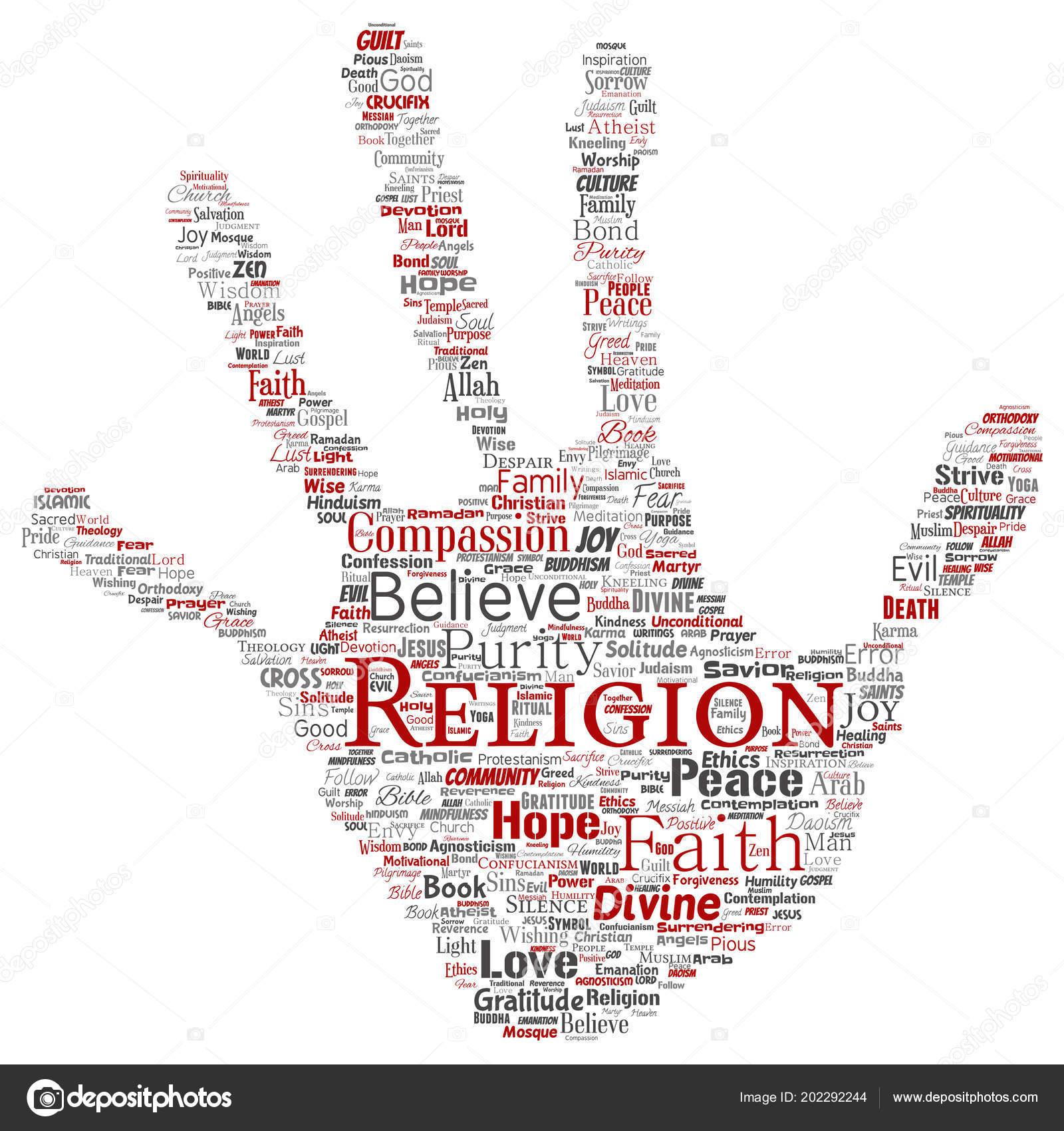 Vektor Konzeptionelle Religion Gott Glauben Spiritualitat Hand