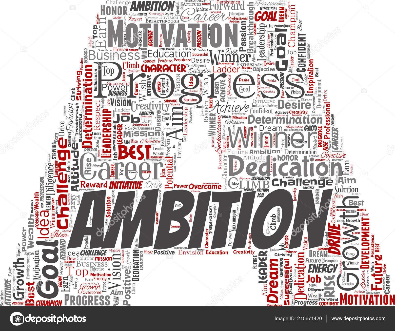 Vector Conceptual Leadership Ambition Motivation Letter Font ...