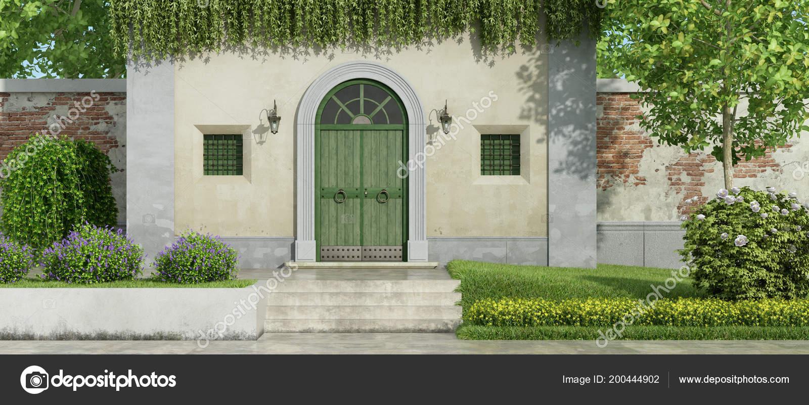 Eingangstür Landhaus kleines landhaus mit hölzernen eingangstür und garden mit Üppigen