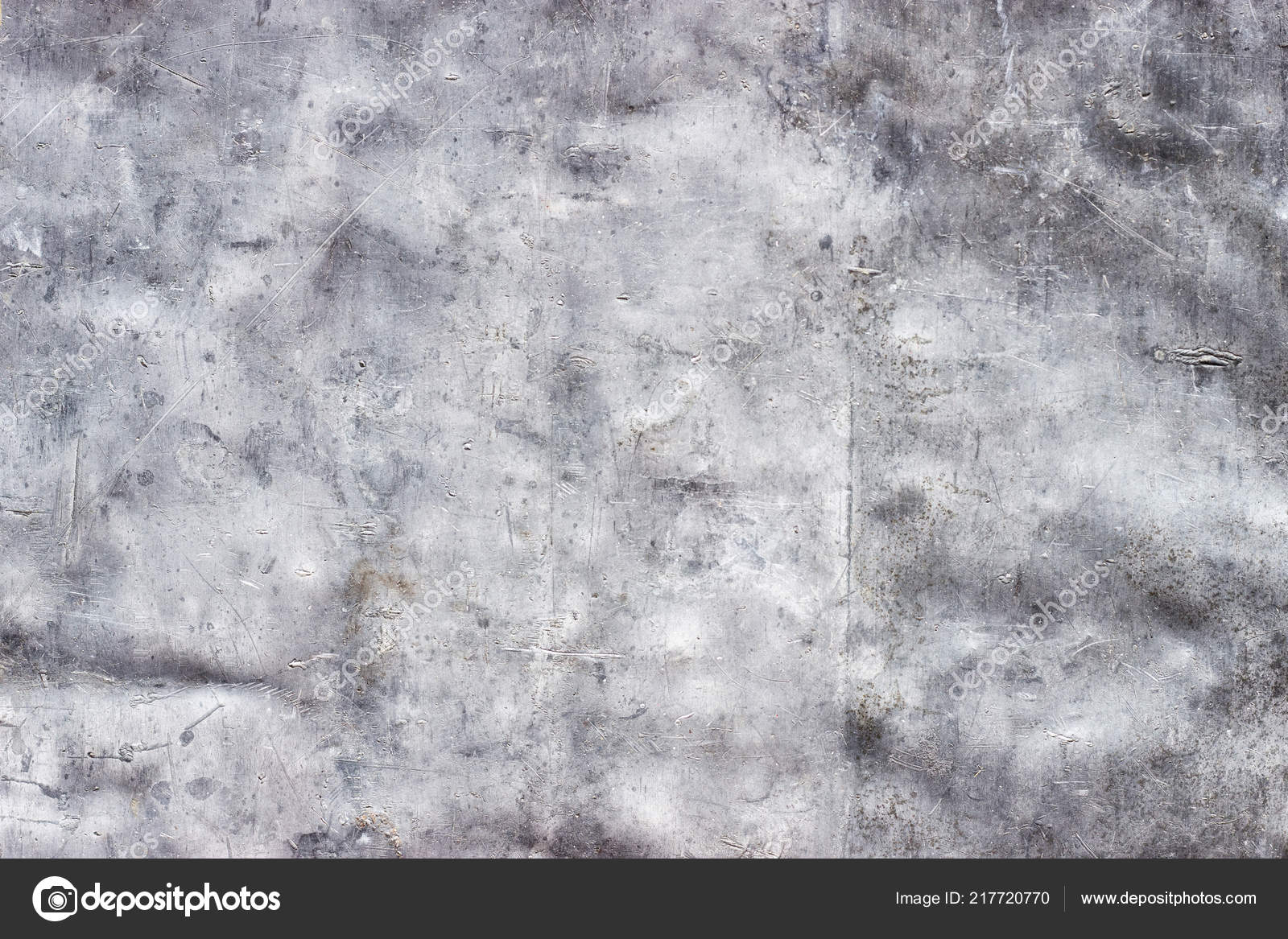 Crumpled Metal Texture Scratches Scuffs Stainless Steel Wallpaper– stock image