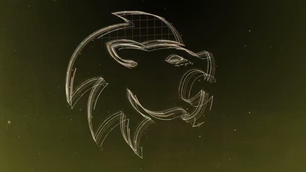 Znamení zvěrokruhu lev a krásné zázemí pro prezentace, video intro, horoskop, filmy, přechod, tituly a mnoho dalšího