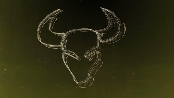 Znamení zvěrokruhu býk a krásné zázemí pro prezentace, video intro, horoskop, filmy, přechod, tituly a mnoho dalšího