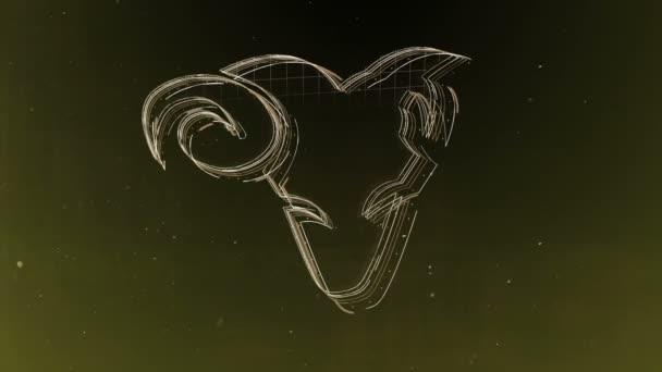 Znamení zvěrokruhu Beran a krásné zázemí pro prezentace, video intro, horoskop, filmy, přechod, tituly a mnoho dalšího