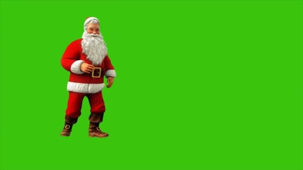 Mikulás tánc a zöld képernyő 4k karácsonykor. Varrat nélküli hurok élénkség.