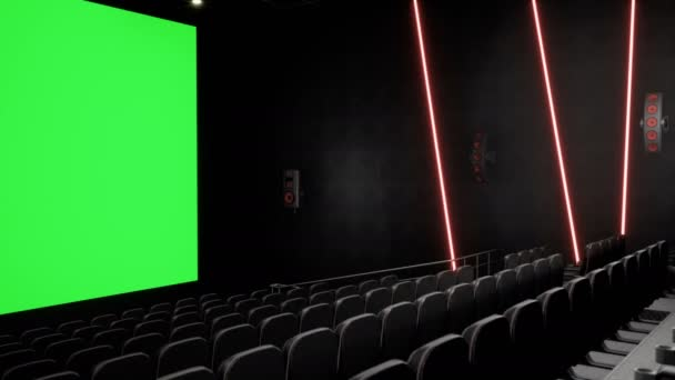 Cinema Interior Of Movie Theatre With Blank Movie Theater Screen With Green Screen And Empty Seats Movie Entertainment Concept Stock Video C Designprojects 252139622