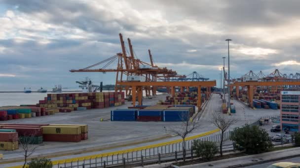 Athens, Greece, 1/5/2019, Trading Port Activity,trucks,vehicles, Hoisting Cranes