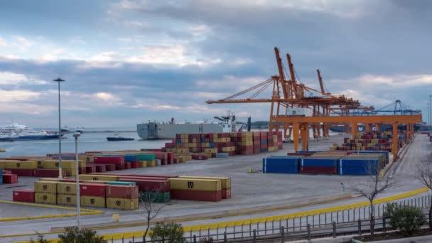 Athens, Greece, 1/5/2019, Trading Port Activity,ships, trucks,vehicles, Hoisting Cranes