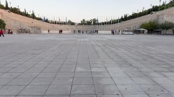 Athens, Greece, 10-07-2018 walking towards the Panathenaic stadium in Athens