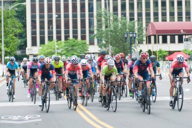 ARLINGTON JUNE 10: Cyclists compete in the elite mens race at the Armed Forces Cycling Classic on June 10, 2018 in Arlington, VA
