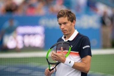 Nicolas Mahut during doubles play at the Citi Open tennis tournament on July 31, 2019 in Washington DC