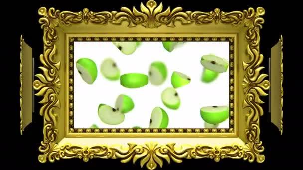 Gyümölcs arany képkeretek