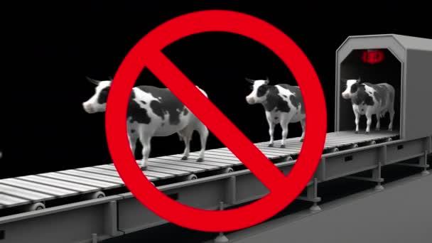 Kühe im Verbotsschild