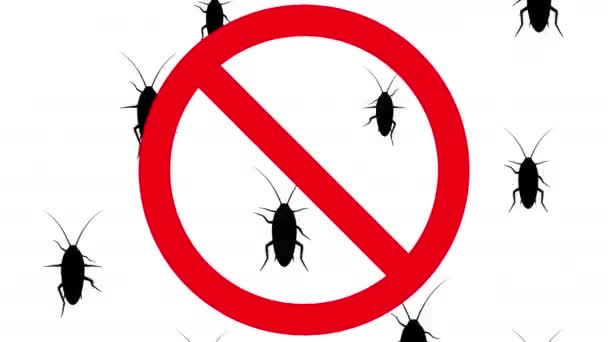 Cockroaches in prohibition sign