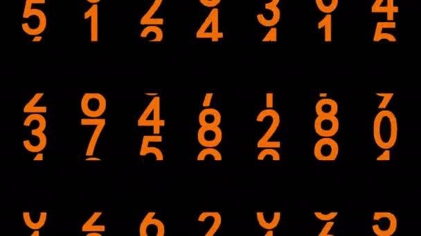 Narancsszínű számok animált
