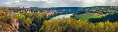 A panoramic view over the canyon and Malkoya Sandzhak village, Ruse region, Bulgaria