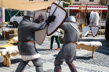 street sword fight performance