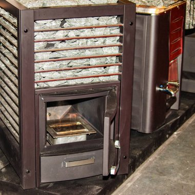 Different types of new wood stoves for saunas
