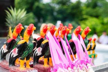 Thai chicken statue