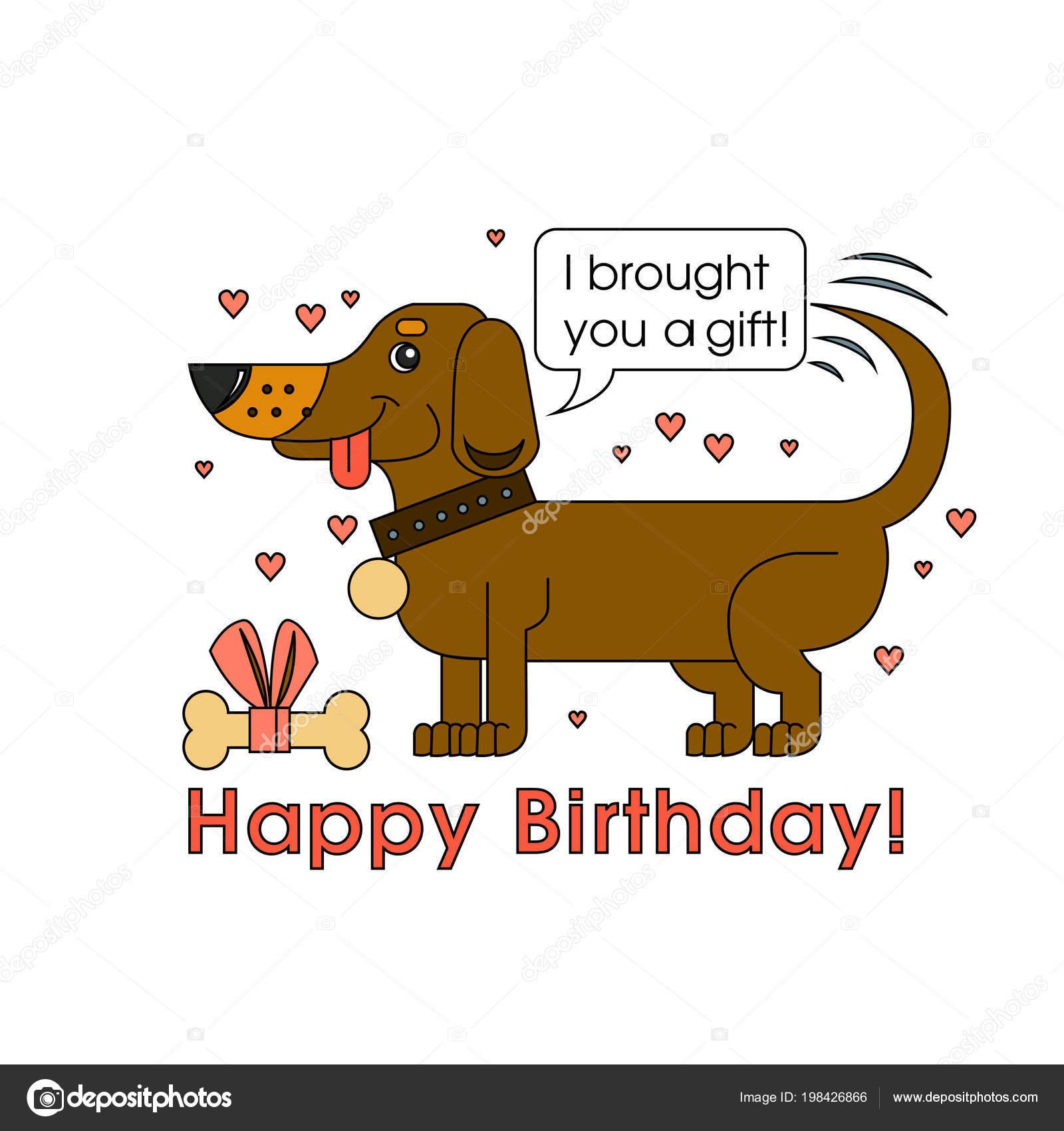 Scheda Di Buon Compleanno Per Amante Del Cane Felice Del Cane Della