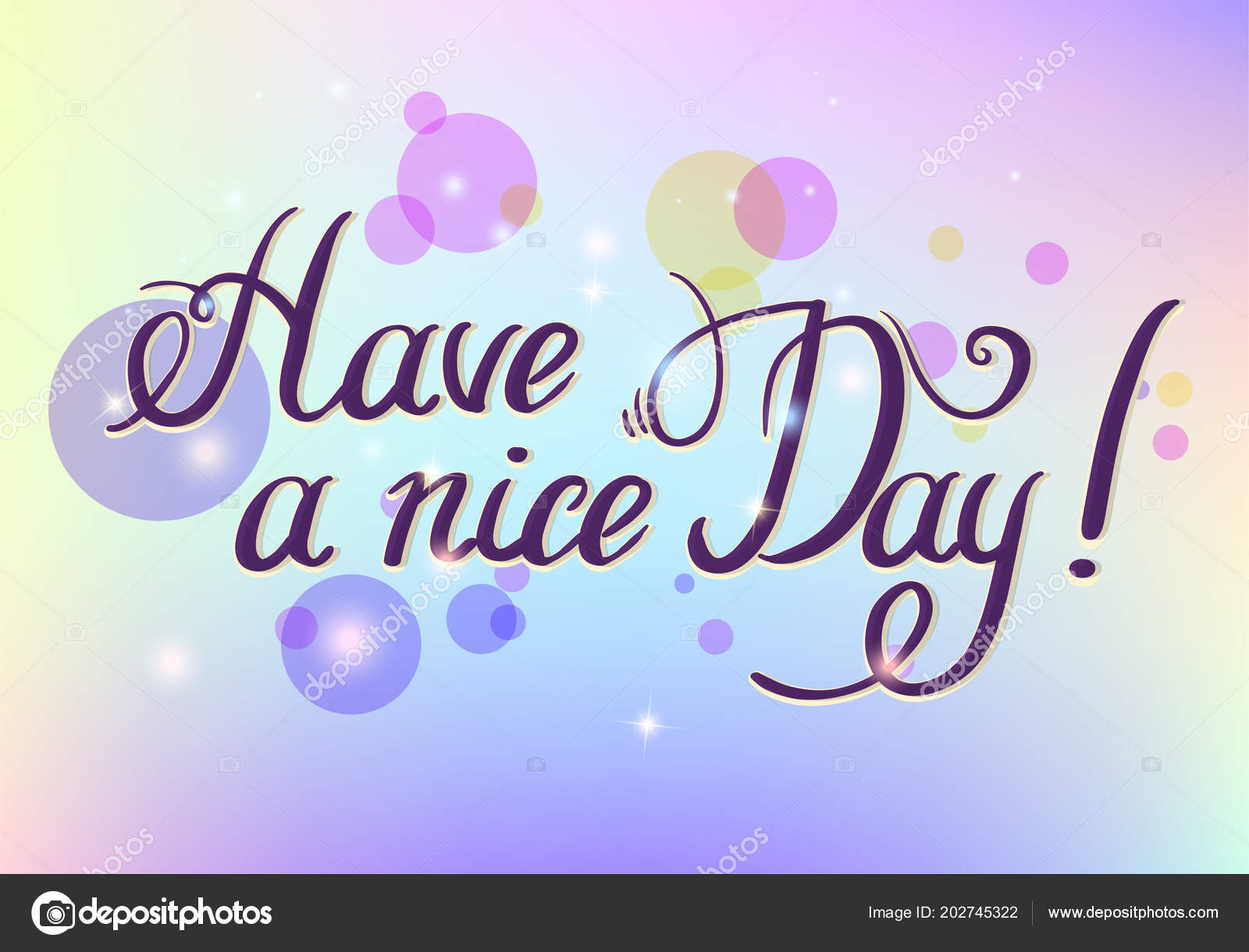 Have a nice day hand drawn lettering isolated on white background have a nice day hand drawn lettering isolated on white background design element for poster greeting card banner vector illustration holographic m4hsunfo
