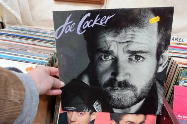 THE NETHERLANDS - MARCH 2019: Album: Joe Cocker - Civilized Man, LP record of the English singer and musician Joe Cocker, in a second hand store.