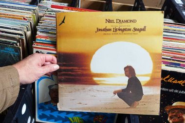 THE NETHERLANDS - OCTOBER 2020: Soundtrack album to the 1973 American film Jonathan Livingston Seagull, recorded by singer-songwriter Neil Diamond and produced by Tom Catalano.
