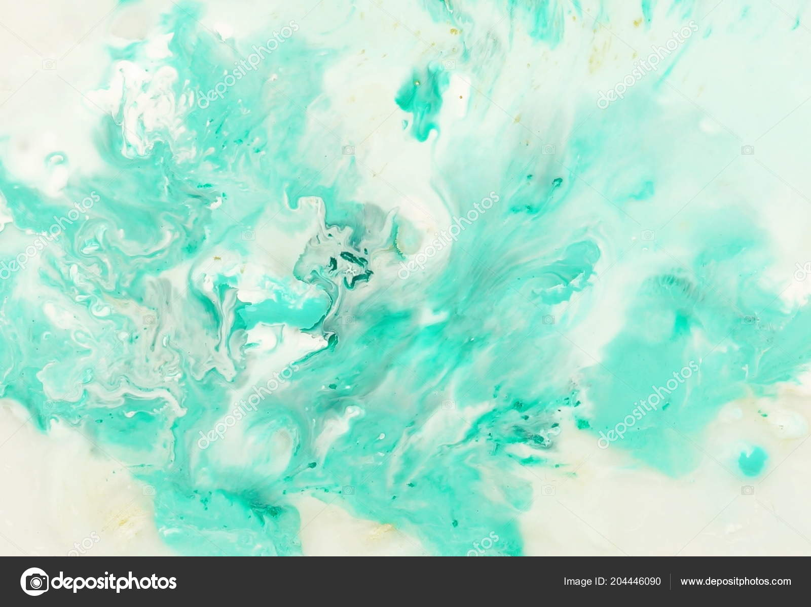 Abstract Marble Pastel Blue Mint Color Paint Background Acrylic