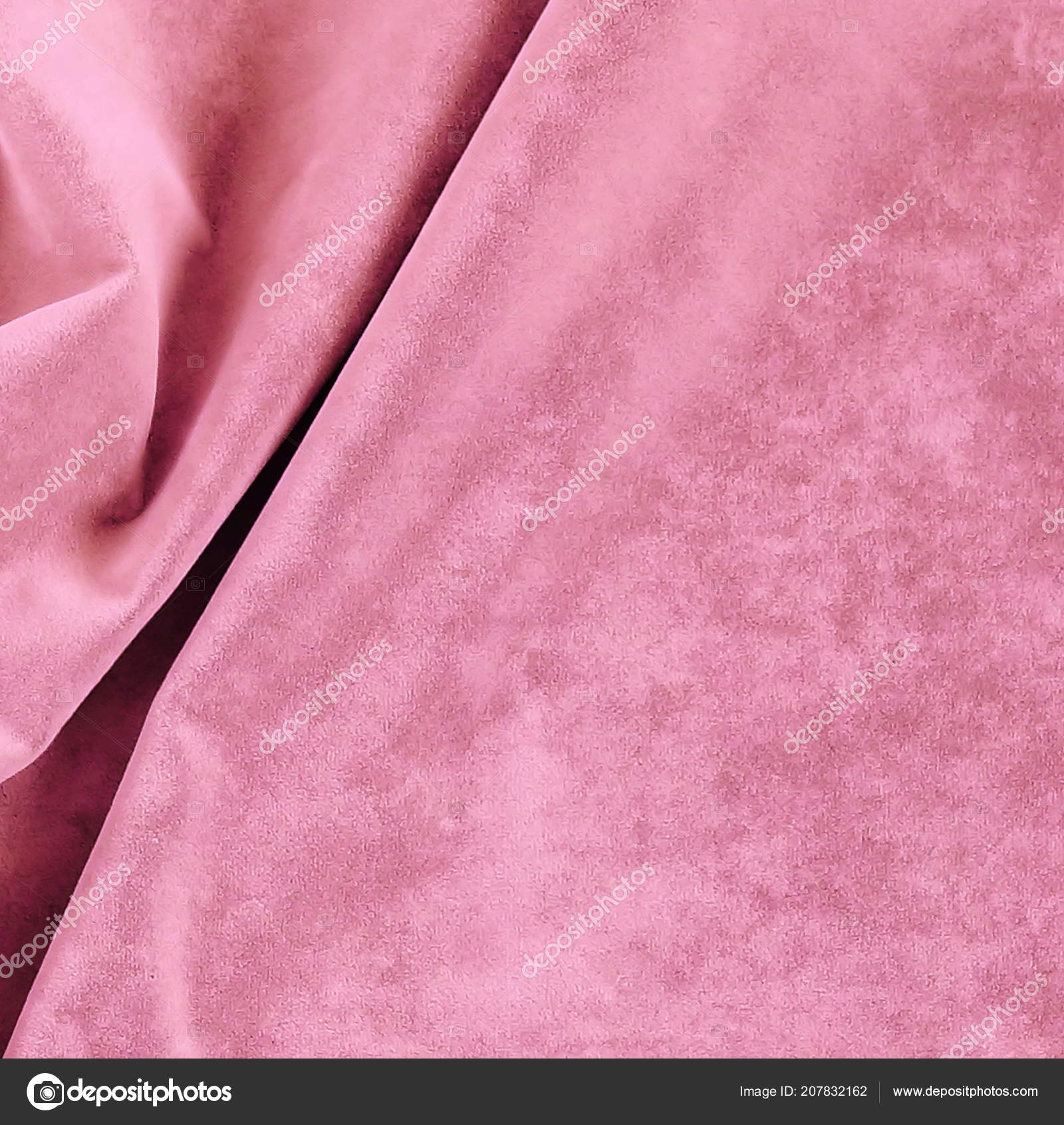 Velvet Texture Pastel Pink Colors Expensive Luxury Fabric