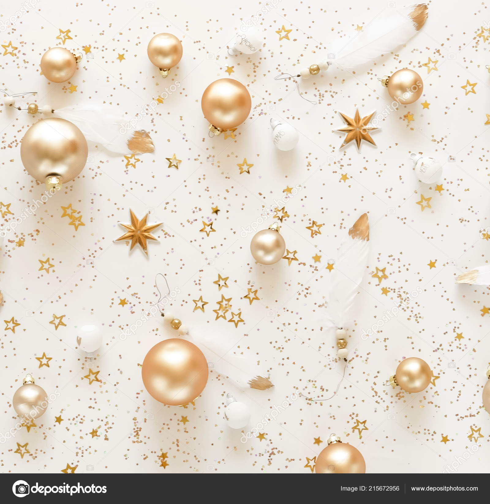 White Christmas Background.Christmas Background Pattern Gold White Christmas