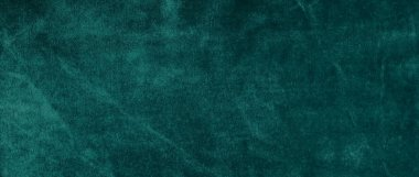 velvet texture background green color banner. expensive luxury, fabric, material, cloth.Copy space.