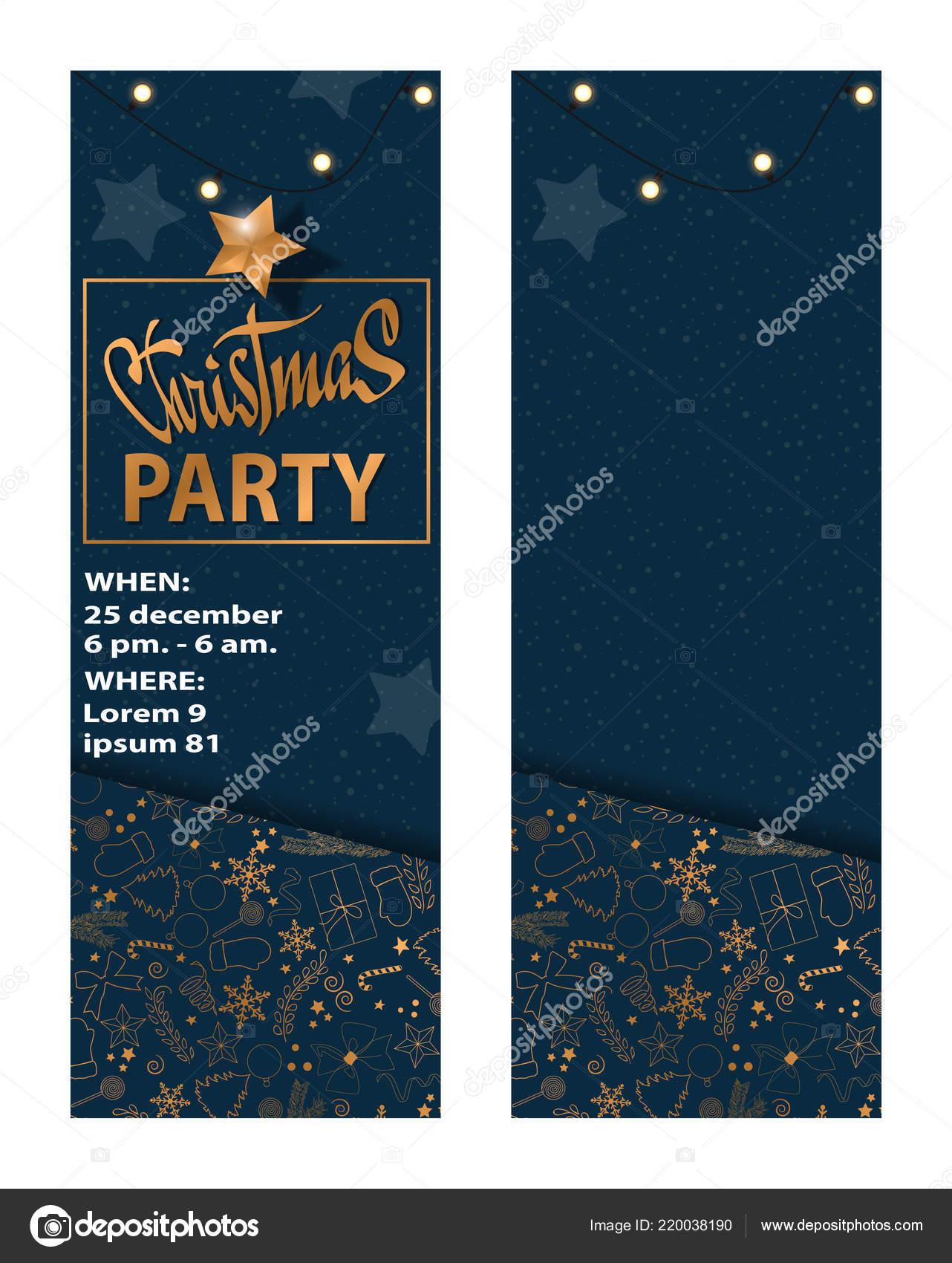 Tarjeta De Invitación De Fiesta De Navidad 2018 Para Su