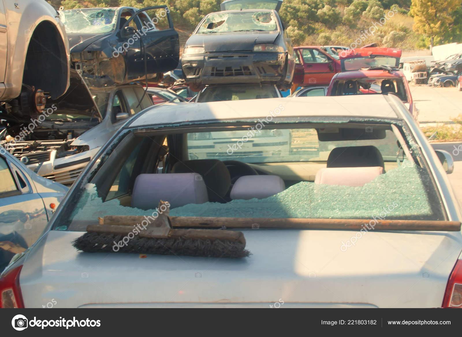 Graveyard Cars Broken Cars Sell Spare Parts Stock Editorial Photo