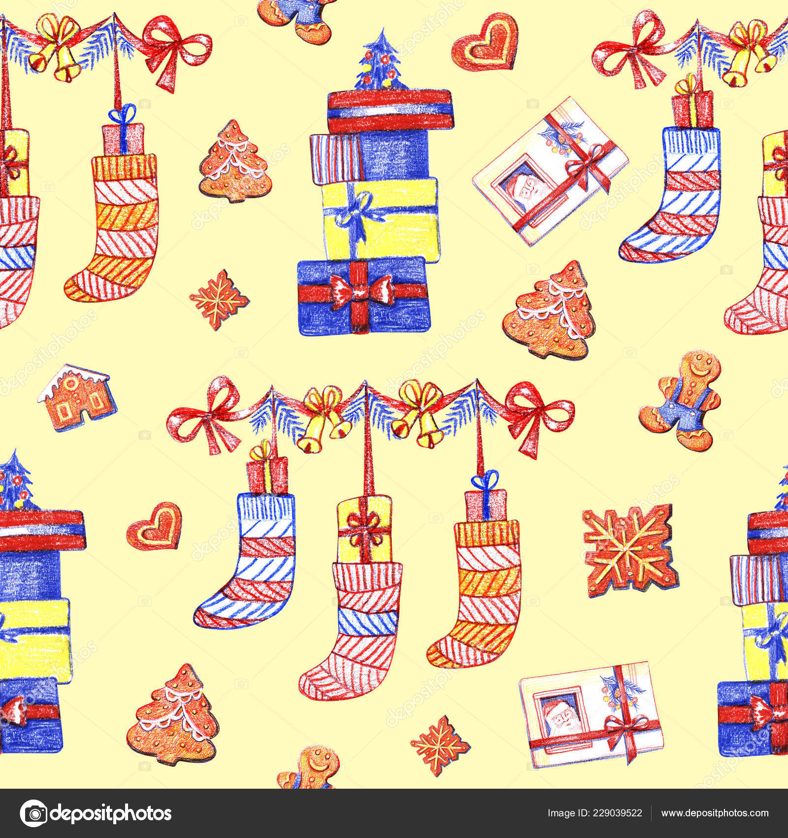 depositphotos 229039522 stock photo christmas gingerbread seamless pattern ginger