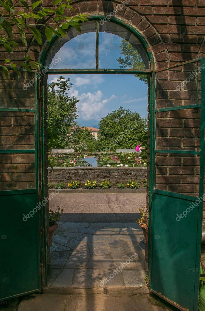 Entrance for the paradise garden in Piedmont, Italy